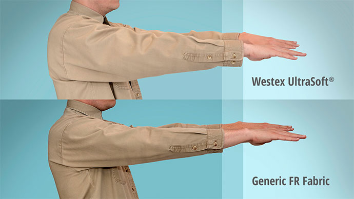 Westex UltraSoft® vs. generic flame resistant fabric and shrinkage results